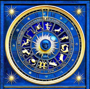 Blue Astro Chart